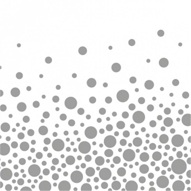 Ubrousky Ambiente Sparkling Dots Silver 33x33 cm