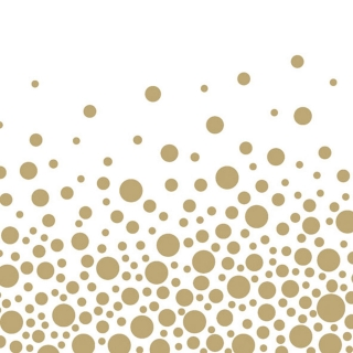 Ubrousky Ambiente Sparkling Dots Gold 33x33 cm